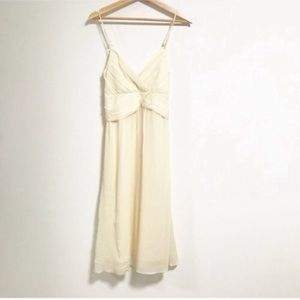 Theory. Silk soft canary yellow summer shift dress